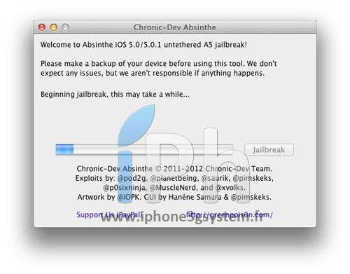 23 TUTO Jailbreak Untethered iPhone 4S / iPad 2 iOS 5.0 / 5.0.1