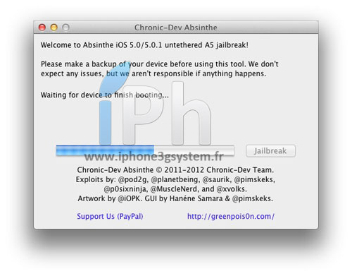 7 TUTO Jailbreak Untethered iPhone 4S / iPad 2 iOS 5.0 / 5.0.1