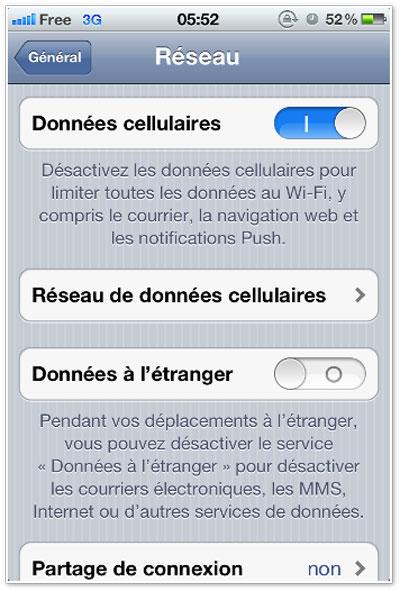 FreeMobile DonneesCellulaires Configurer votre iPhone pour Free Mobile