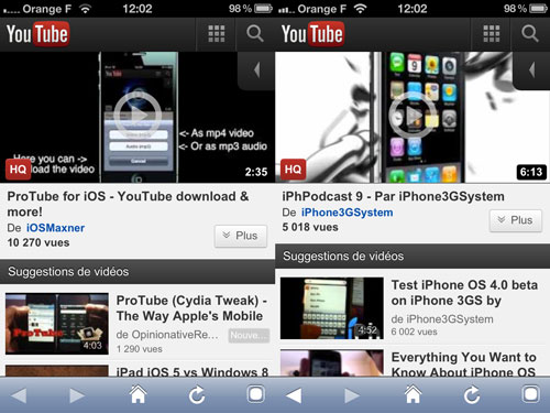 ProTube [CYDIA] Liste des tweaks compatibles iOS 5.1.1