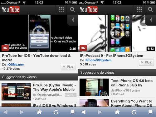 ProTube [CYDIA] Liste des tweaks compatibles iOS 5.1.1