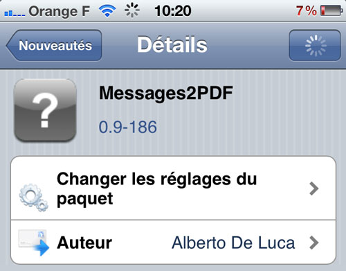 Sans titre 23 Cydia : Messages2PDF, exportez vos messages par Mail