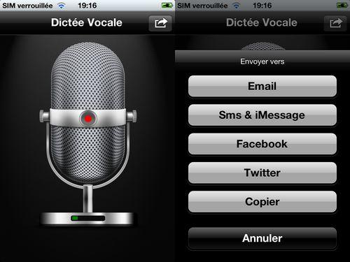VTA 1 Dictée Vocale : Dictez facilement sur votre iPhone