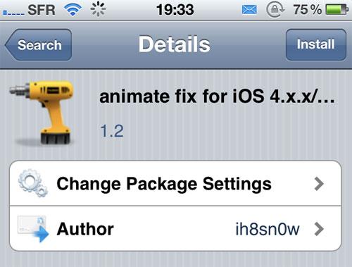 animatefix [CYDIA] Liste des tweaks compatibles iOS 5.1.1