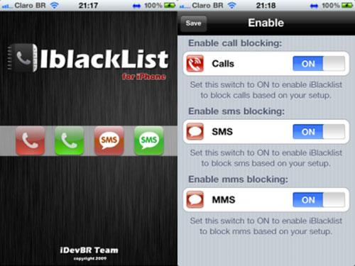 iBlackList iBlacklist passe en version 5.1.3