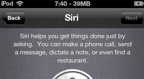 iPh Siri Ipod touch Une sauvegarde diPhone 4S permettrait davoir Siri sur un iPod Touch