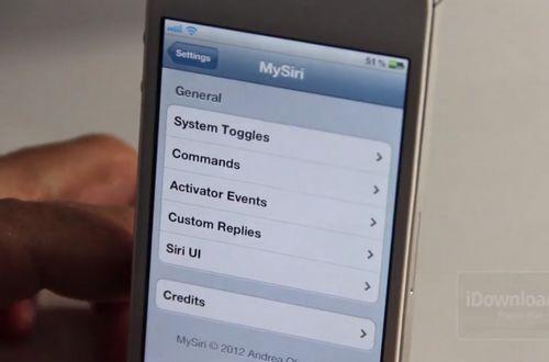 mysiri MySiri : Personnalisez Siri comme vous le souhaitez