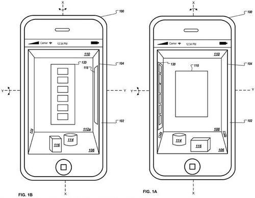patent 120112 Apple brevette la 3D pour linterface iOS
