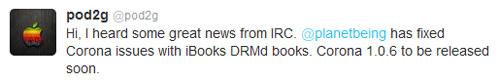 pod2g500px Corona 1.0.6 corrigera les problèmes avec iBooks