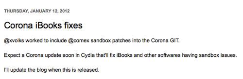 pod3 Pod2G corrigera bientôt le bug iBooks