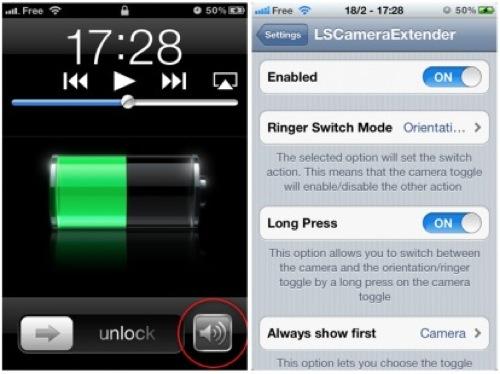 LSCameraExtender1 Cydia : LSCameraExtender, personnalisez le bouton photo du LockScreen