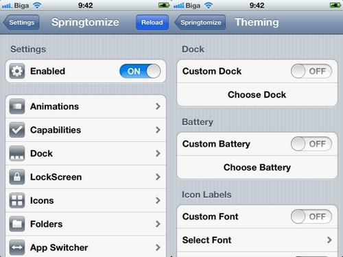 SPRING Cydia : Springtomize 2 se met à jour en version 1.3 2