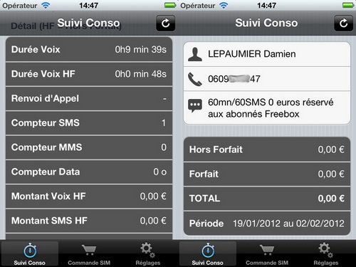 free Free Mobile Companion pour suivre sa consommation