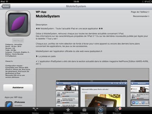mobilesystem MobileSystem disponible sur lApp Store