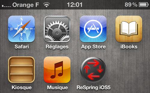 respring [CYDIA] Liste des tweaks compatibles iOS 5.1.1