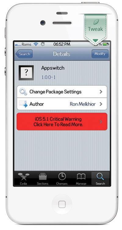 Appswitcher Appswitcher, ajouter 4 icônes en raccourci dans le multitâche