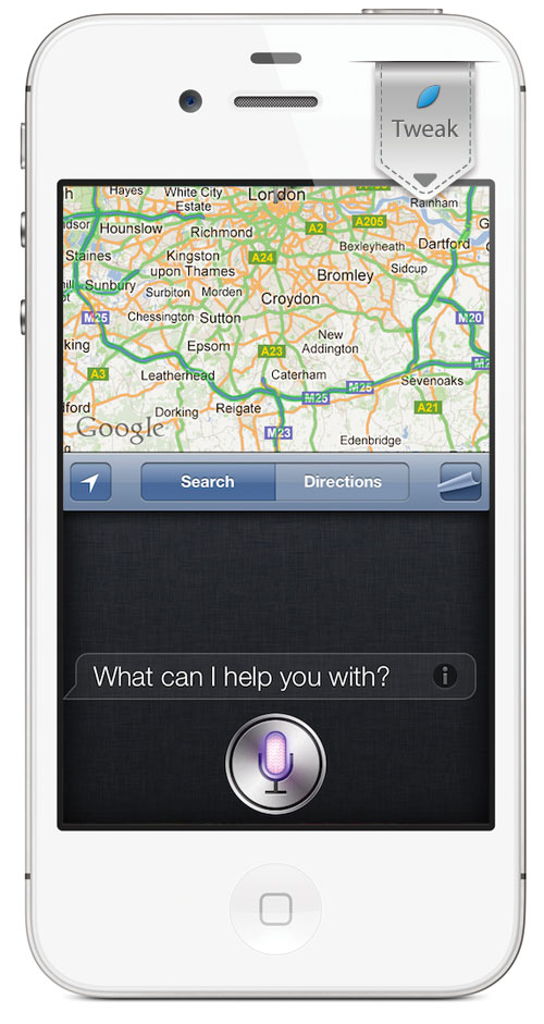 HalfSiriFirst iPh HalfSiriFirst, Siri sur la moitié de lécran lorsquil sallume