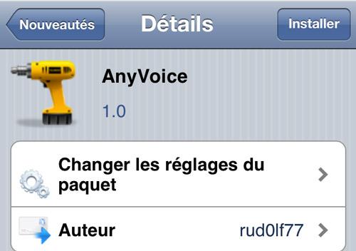 Sans titre 12 AnyVoice, Siri avec un accent