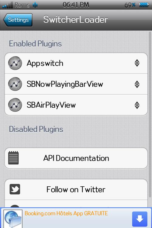 Switloader1 Appswitcher, ajouter 4 icônes en raccourci dans le multitâche