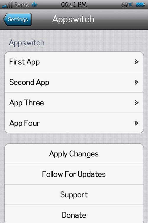 appswitcher21 Appswitcher, ajouter 4 icônes en raccourci dans le multitâche