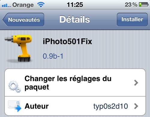 iph iPhoto501Fix, faites fonctionner iPhoto sur iOS 5.0.1