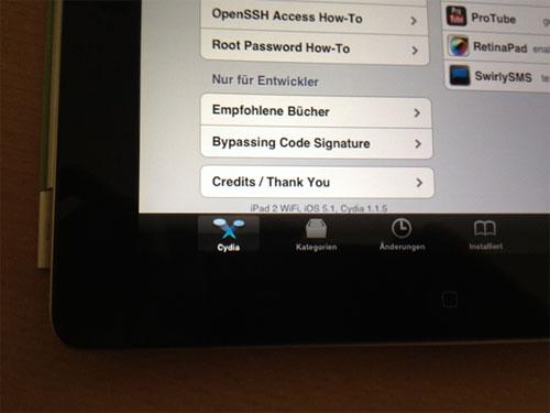 jbiOS1 Premières images dun iPad 2 sous iOS 5.1 jailbreaké