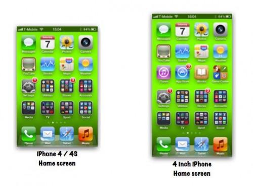 13 500x368 iPhone 5 : Le Springboard dun écran de 4 pouces