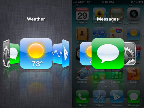 Aero tweak iPh Tweak Cydia : Aero, un superbe multitâche pour iOS [CRACK]