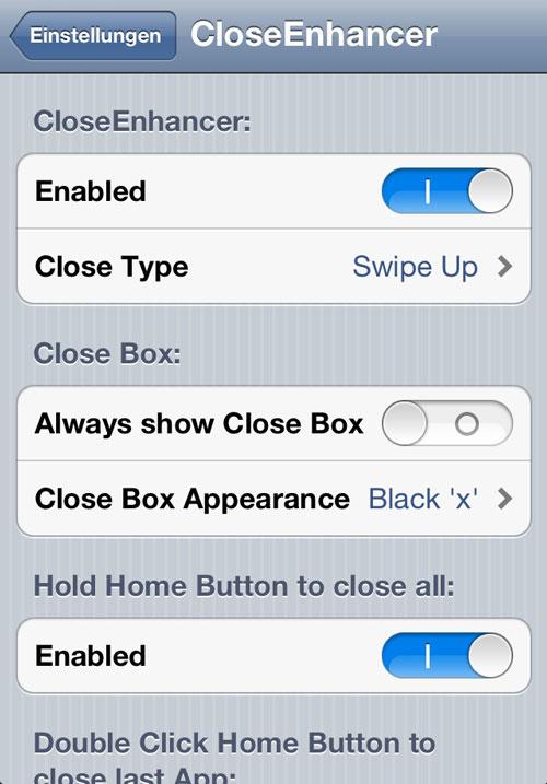 CloseEnhancer iPh1 Cydia : CloseEnhancer passe en version 1.0.3