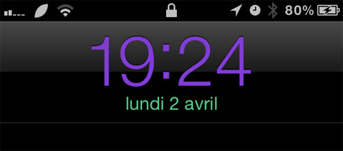 ColorClock iPh Cydia : ColorsClock passe en version 2.0.1