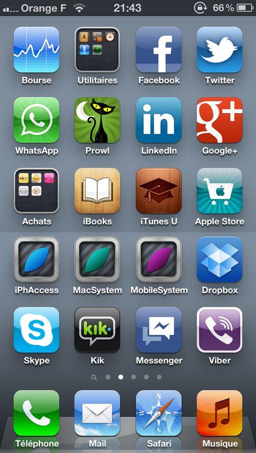 SB iPhone 5 : Le Springboard dun écran de 4 pouces