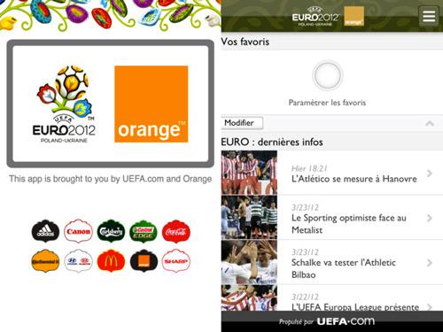 euro2 Lapplication officielle de lUEFA EURO 2012 débarque sur lApp Store