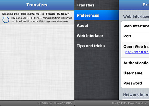 iTransmission2 tweak Cydia iPh2 Cydia : iTransmission 2 passe en version 2.4