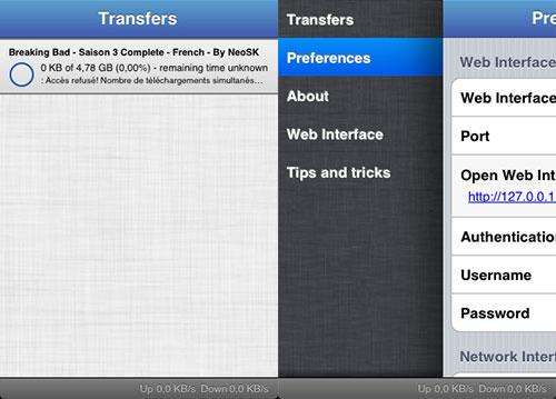 iTransmission2 tweak Cydia iPh2 Cydia : iTransmission 2 passe en version 2.3