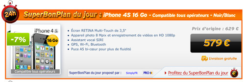 pminster LiPhone 4S en promotion chez Priceminister