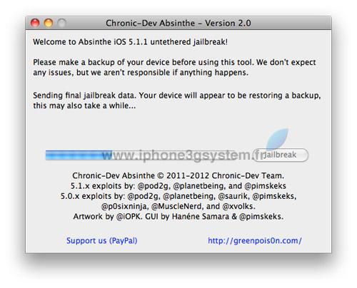2 TUTO : Jailbreak untethered iOS 5.1.1 avec Absinthe 2.0.4