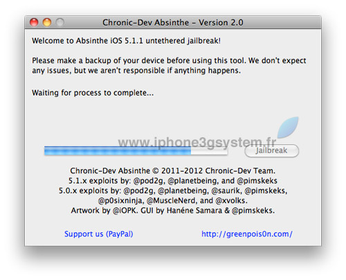 4 TUTO : Jailbreak untethered iOS 5.1.1 avec Absinthe 2.0.4