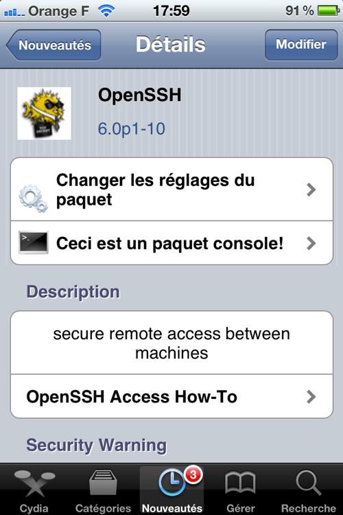 Photo 25 05 12 17 59 40 Cydia : OpenSSH passe en version 6.0p1 10