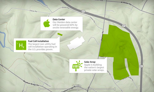 apple maiden center data map Lénérgie verte, une cause importante pour Apple