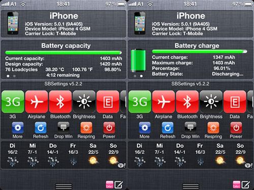 batteryinfoweeapp tweak Cydia : BatteryInfo passe en version 1.1.3 [CRACK]
