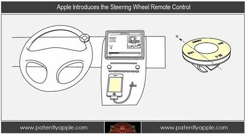 commande volant apple1 Apple dépose un brevet pour une commande à distance au volant