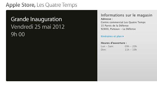 innauguration apple store 4 temps LApple Store des Quatre Temps, cest pour vendredi !