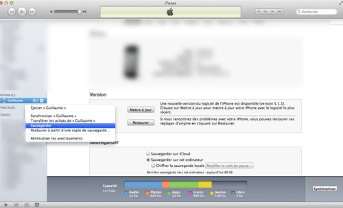 itunes TUTO : Jailbreak untethered iOS 5.1.1 avec Absinthe 2.0.4
