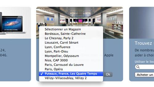 quatre temps apple store LApple Store des Quatre Temps fait son entrée sur le site officiel