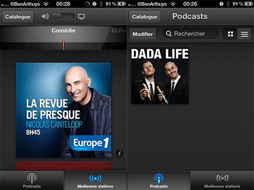 podcasts app Lapplication officielle Podcasts est disponible sur lApp Store