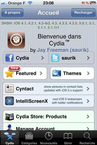 Cydia Le guide du nouvel utilisateur