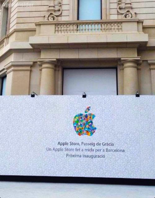 barcelona apple store 2 Nouvel Apple Store à Barcelone avec un logo spécial