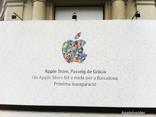 barcelona apple store Nouvel Apple Store à Barcelone avec un logo spécial