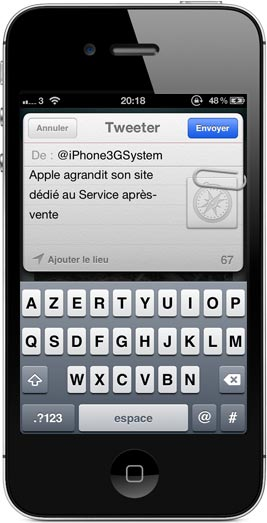 iphone2 AppSystem lapplication du site iPhone3GSystem est disponible sur lApp Store