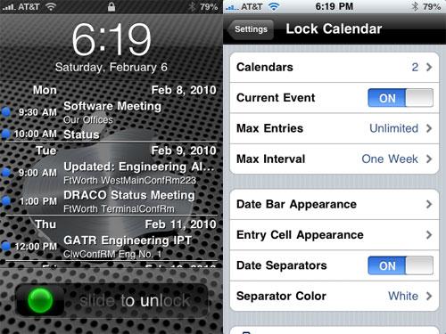 lockcalendar Cydia : Lock Calendar passe en version 3.0